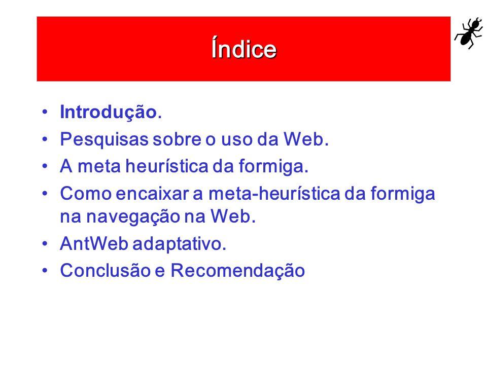 Índice Introdução. Pesquisas sobre o uso da Web.