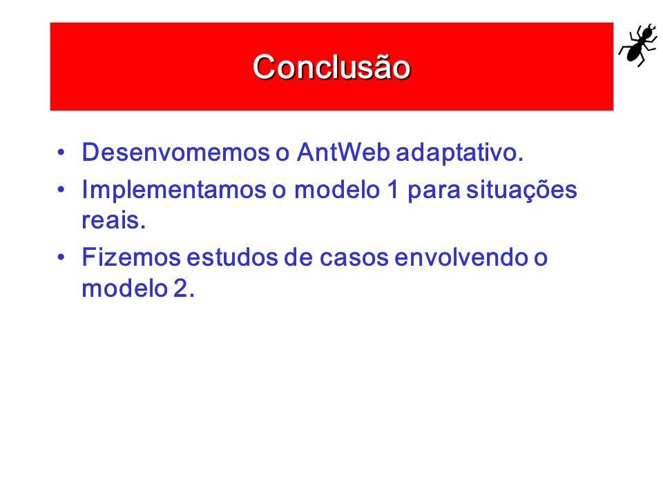 Conclusão Desenvomemos o AntWeb adaptativo.