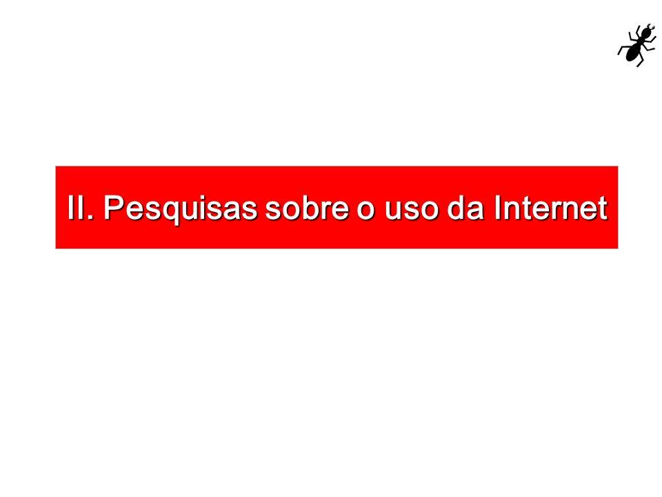 II. Pesquisas sobre o uso da Internet