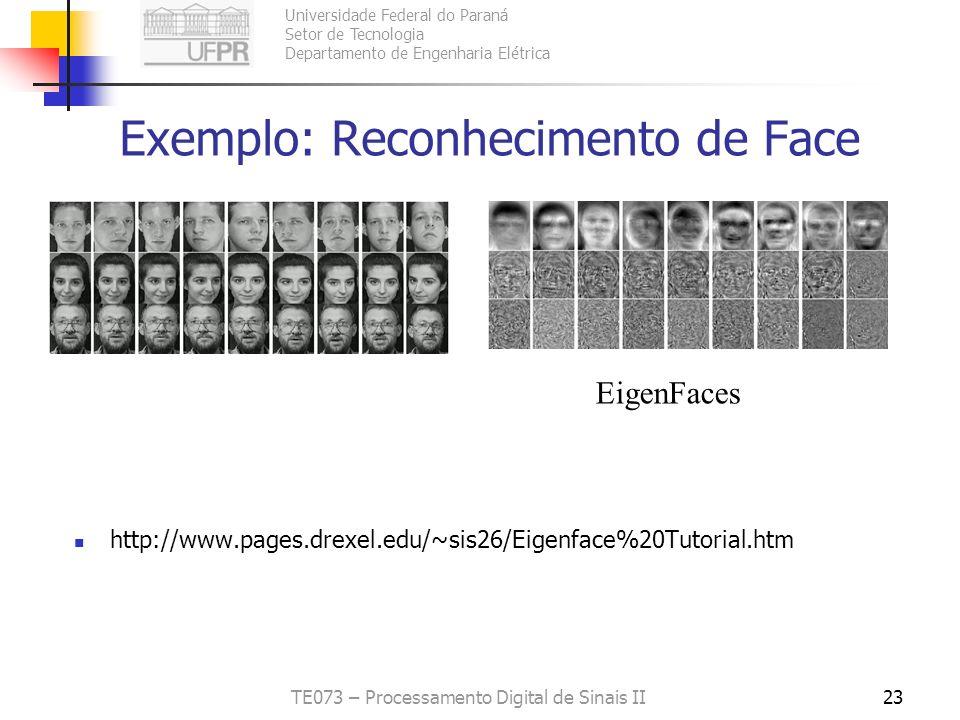 Exemplo: Reconhecimento de Face