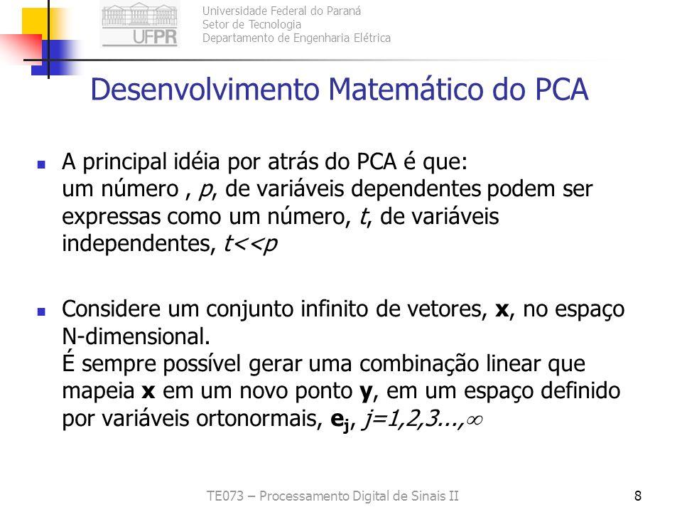 Desenvolvimento Matemático do PCA