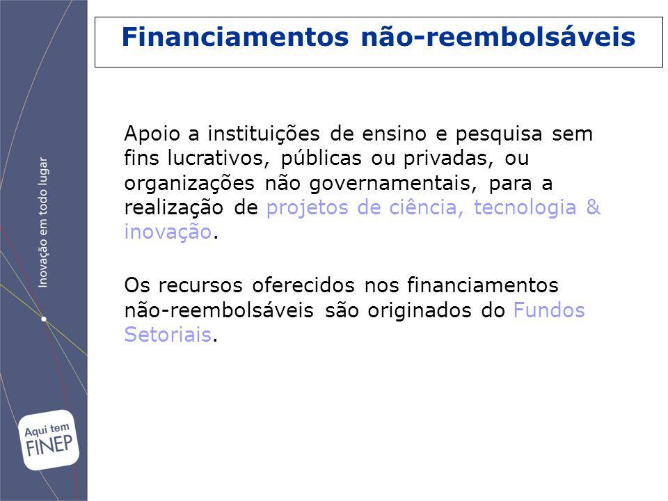 Financiamentos não-reembolsáveis