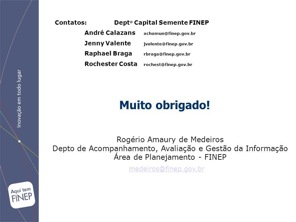 Muito obrigado! Rogério Amaury de Medeiros