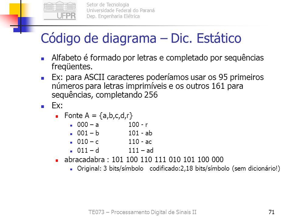 Código de diagrama – Dic. Estático