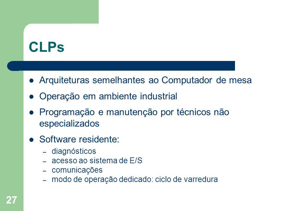 CLPs Arquiteturas semelhantes ao Computador de mesa