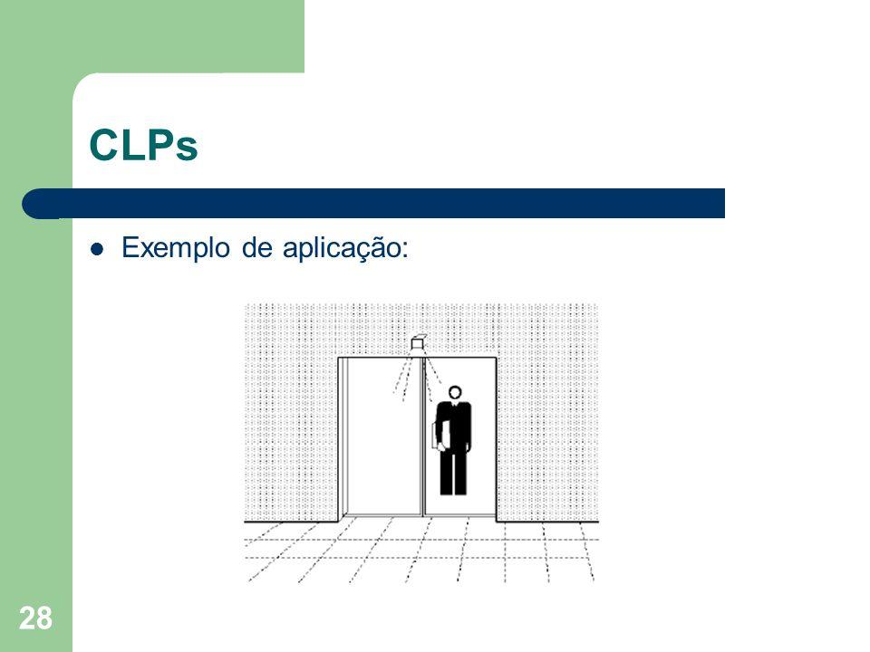 CLPs Exemplo de aplicação: