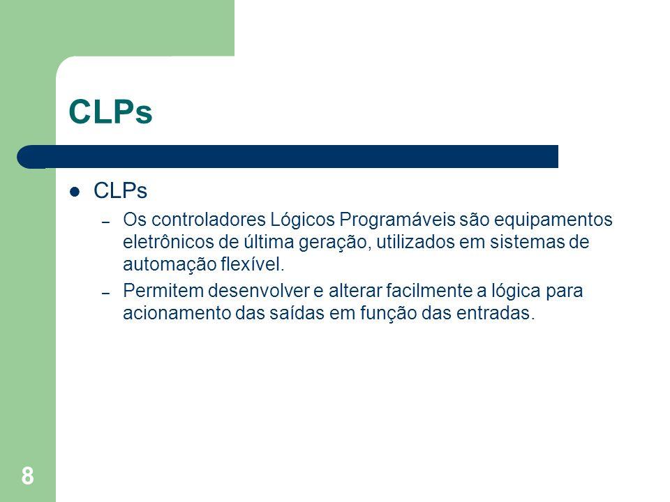 CLPsCLPs. Os controladores Lógicos Programáveis são equipamentos eletrônicos de última geração, utilizados em sistemas de automação flexível.