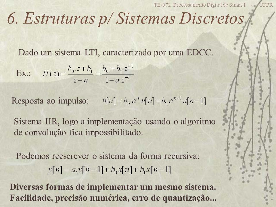 6. Estruturas p/ Sistemas Discretos