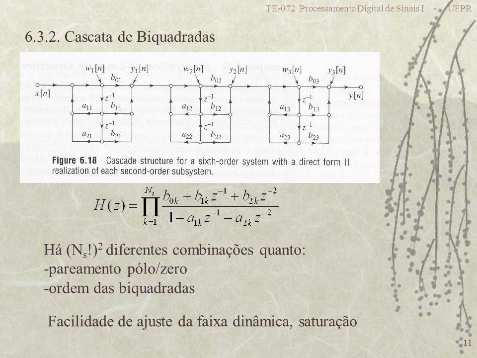 6.3.2. Cascata de Biquadradas