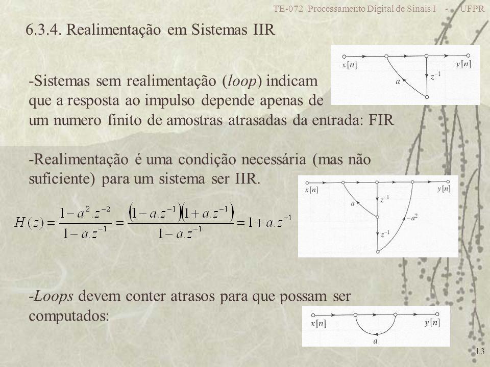 6.3.4. Realimentação em Sistemas IIR