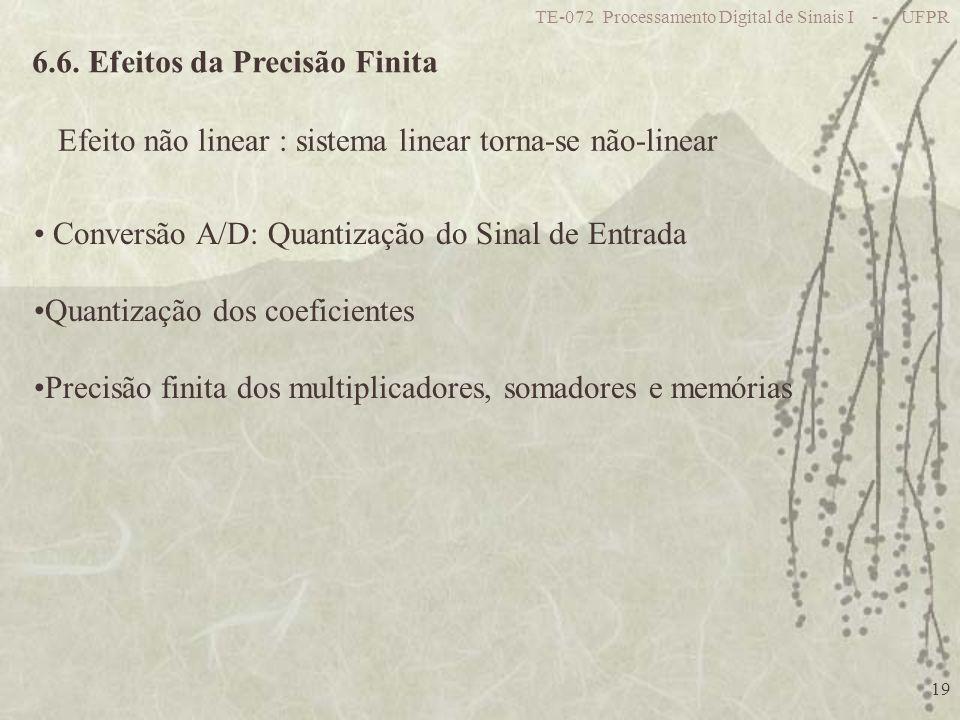6.6. Efeitos da Precisão Finita
