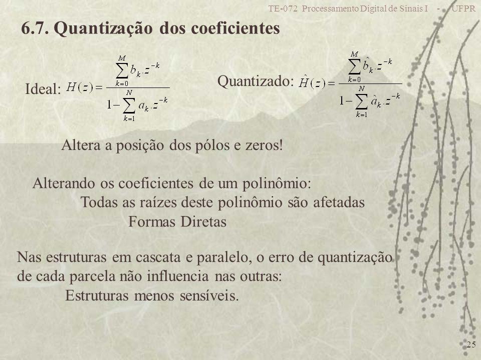 6.7. Quantização dos coeficientes