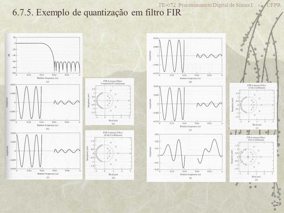 6.7.5. Exemplo de quantização em filtro FIR