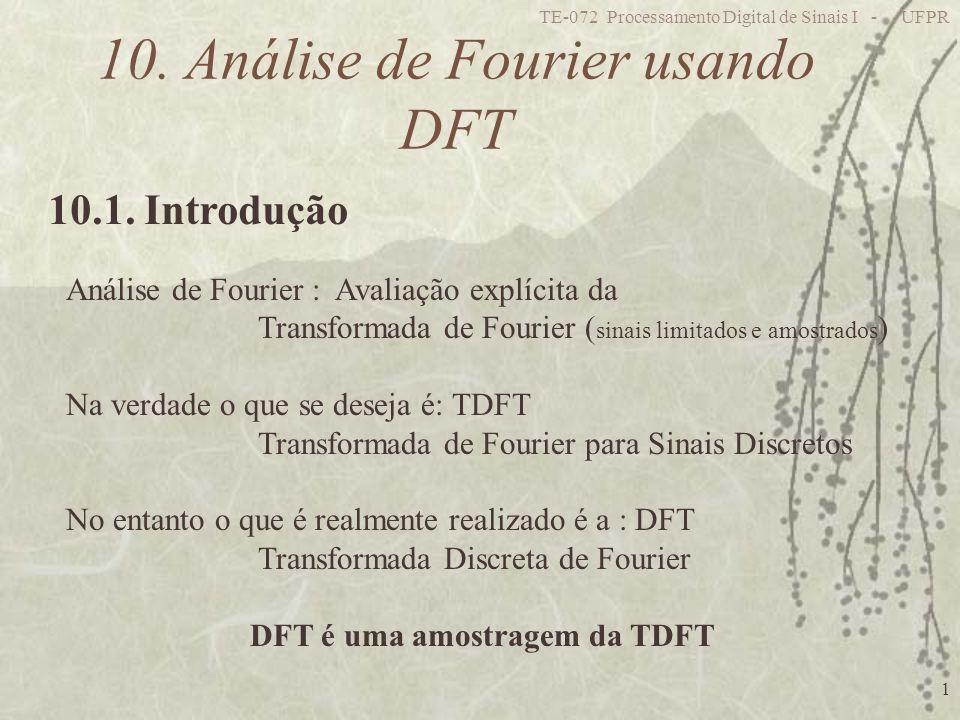 10. Análise de Fourier usando DFT