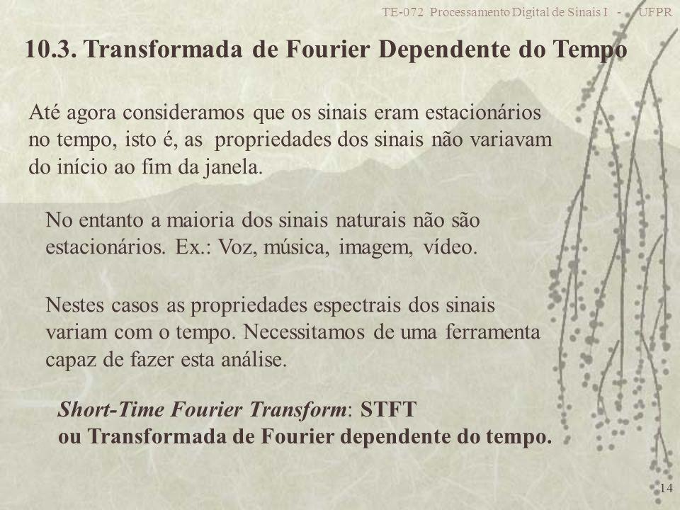 10.3. Transformada de Fourier Dependente do Tempo