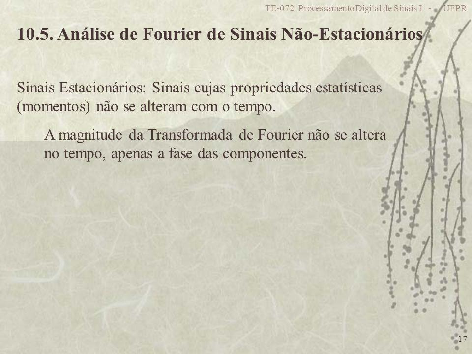 10.5. Análise de Fourier de Sinais Não-Estacionários