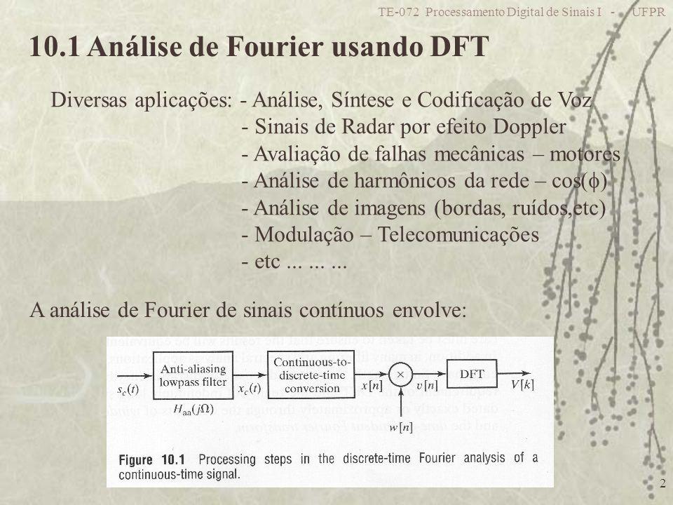 10.1 Análise de Fourier usando DFT