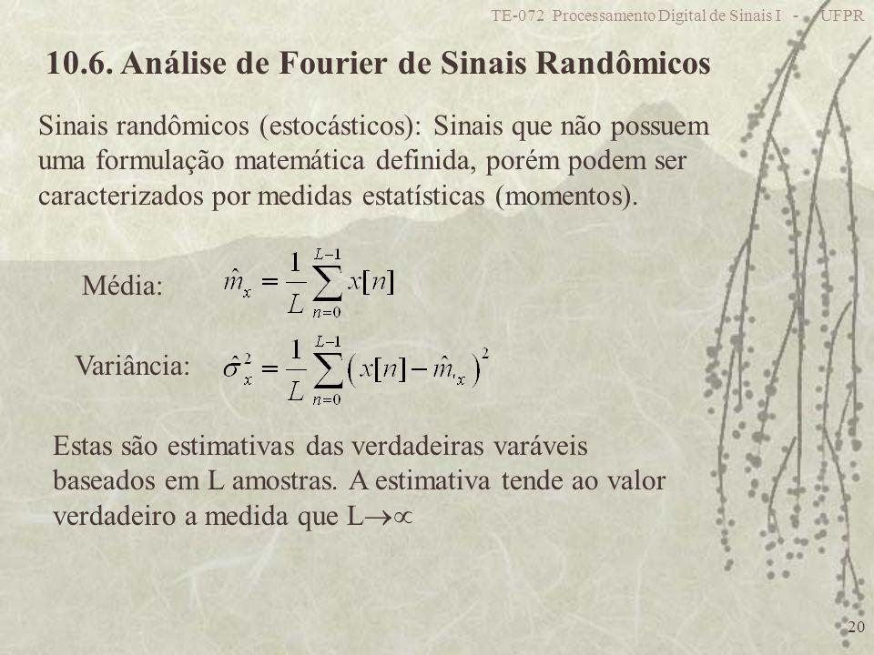 10.6. Análise de Fourier de Sinais Randômicos