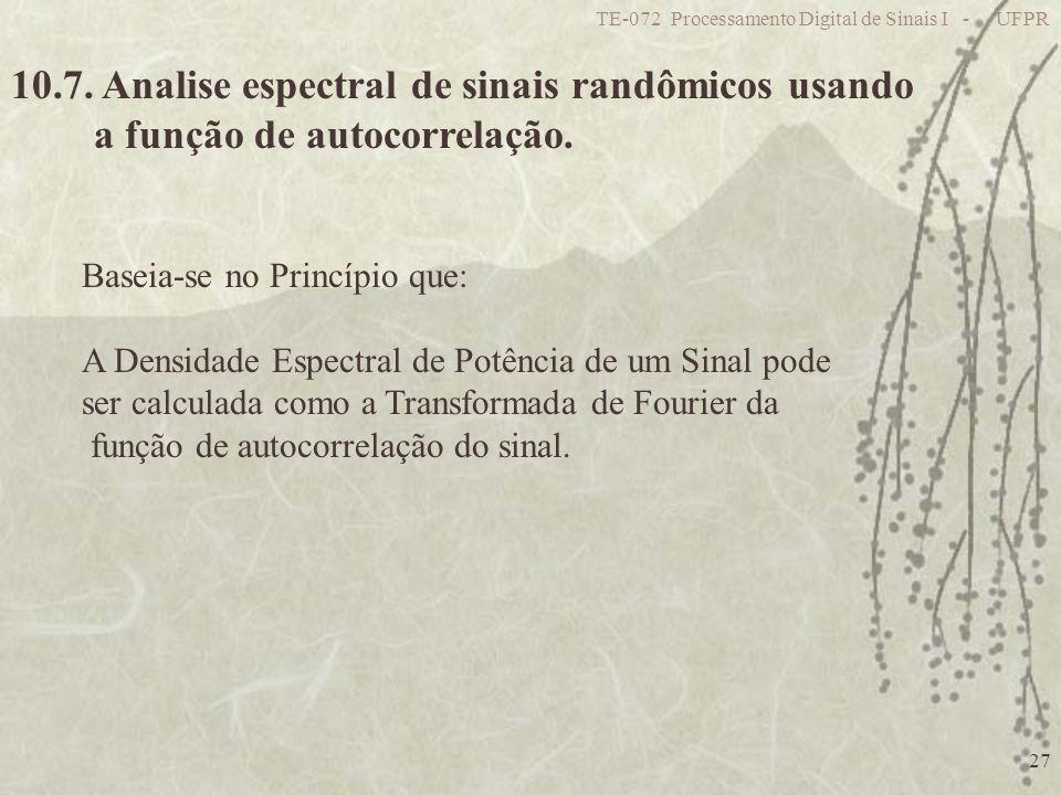 10.7. Analise espectral de sinais randômicos usando