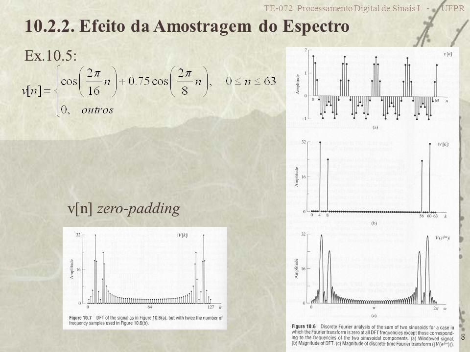 10.2.2. Efeito da Amostragem do Espectro