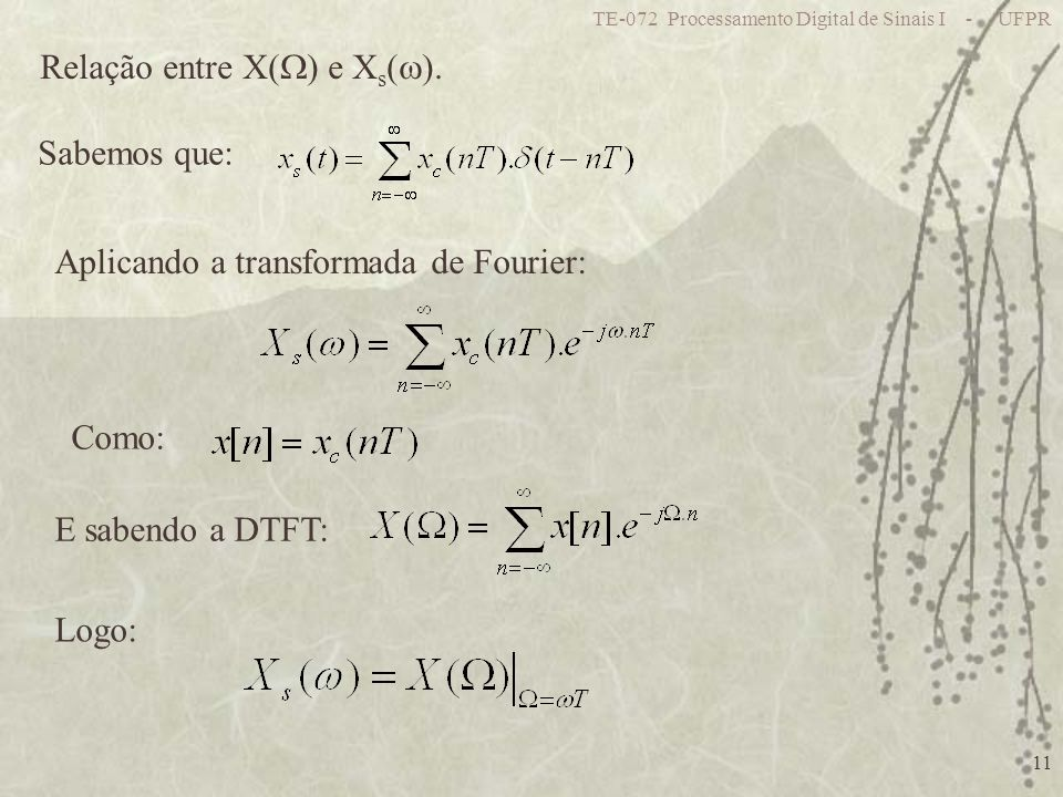 Relação entre X() e Xs().