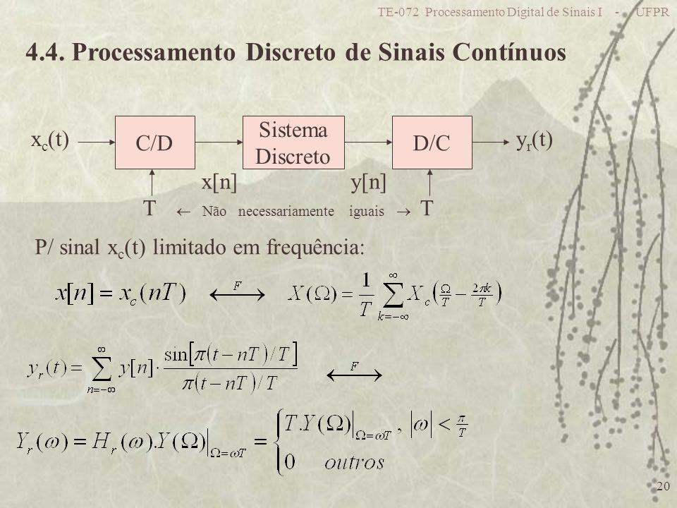 4.4. Processamento Discreto de Sinais Contínuos