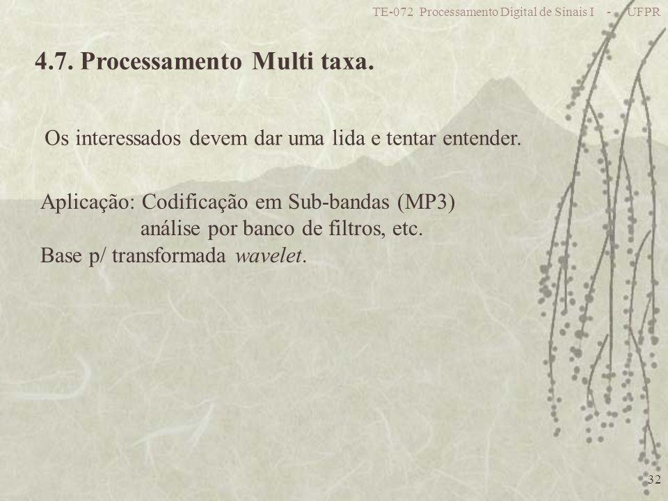 4.7. Processamento Multi taxa.