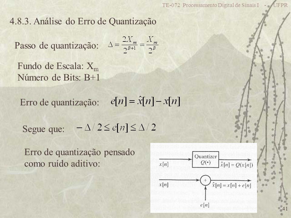 4.8.3. Análise do Erro de Quantização