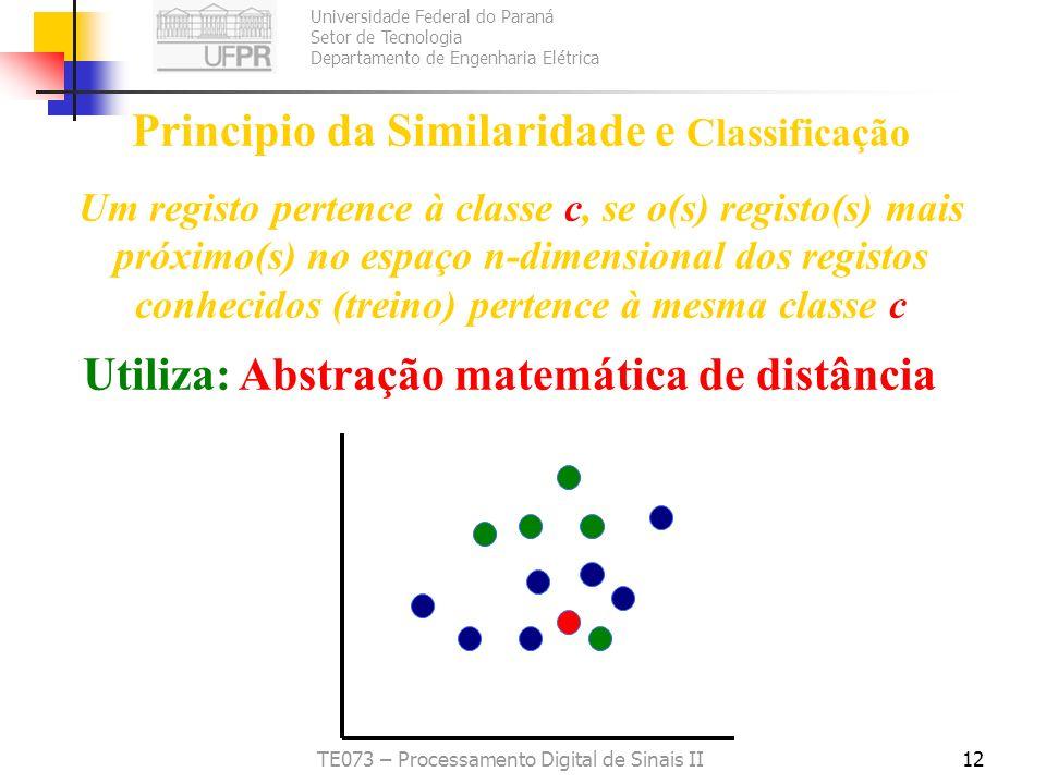 Principio da Similaridade e Classificação