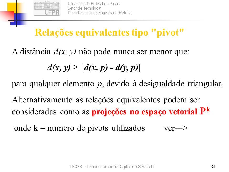 Relações equivalentes tipo pivot