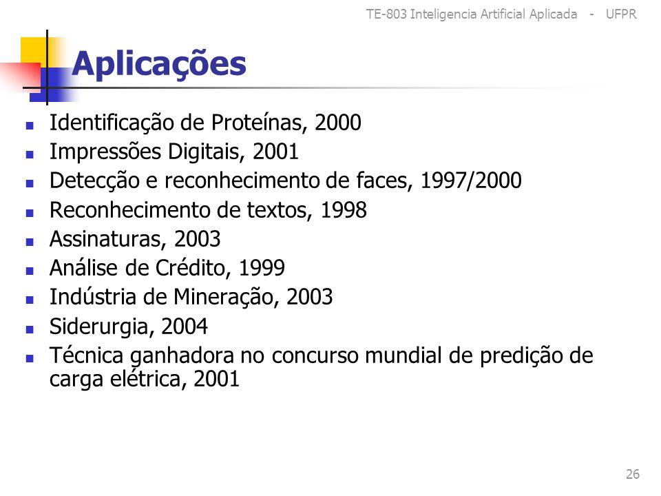 Aplicações Identificação de Proteínas, 2000 Impressões Digitais, 2001
