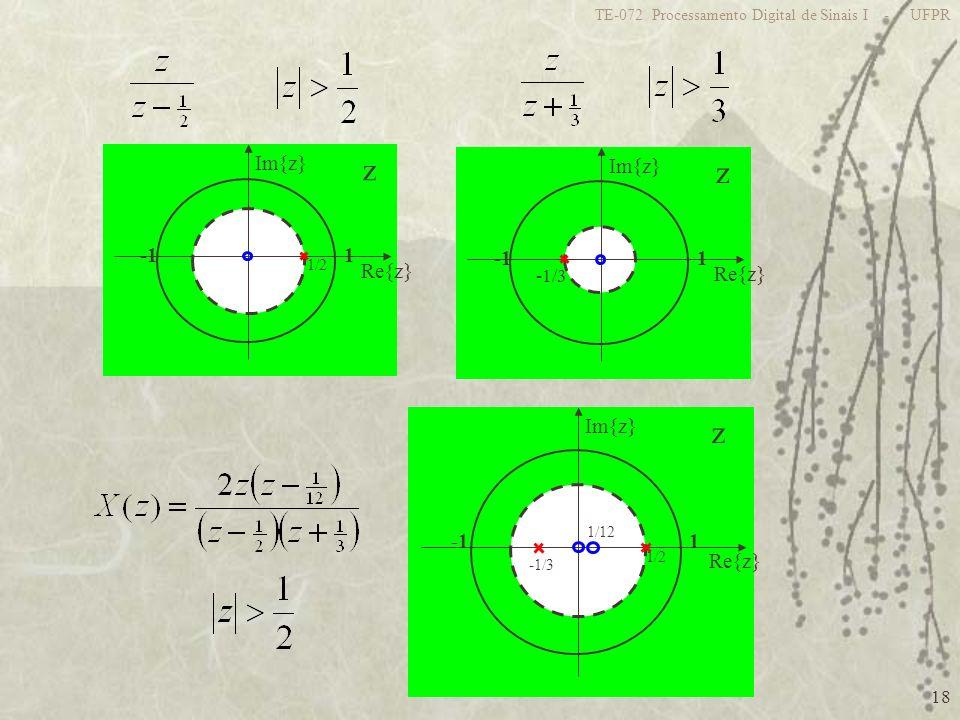 z z z 1 -1 Re{z} Im{z} 1 -1 Re{z} Im{z} 1 -1 Re{z} Im{z} -1/3