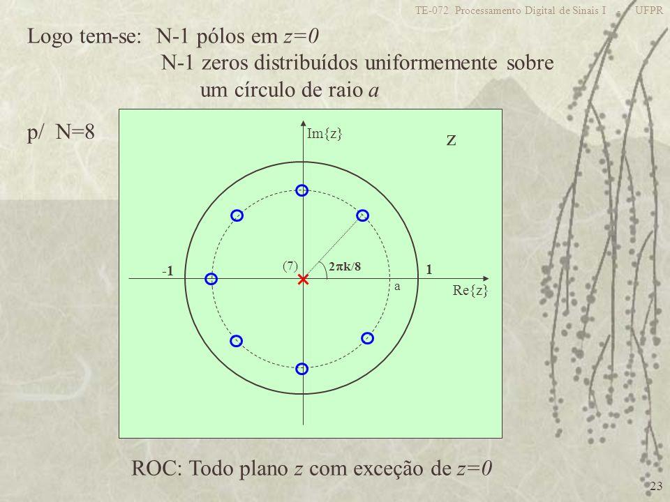 Logo tem-se: N-1 pólos em z=0