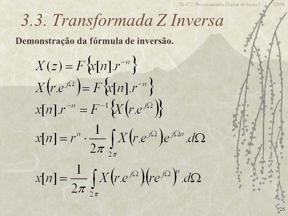 3.3. Transformada Z Inversa