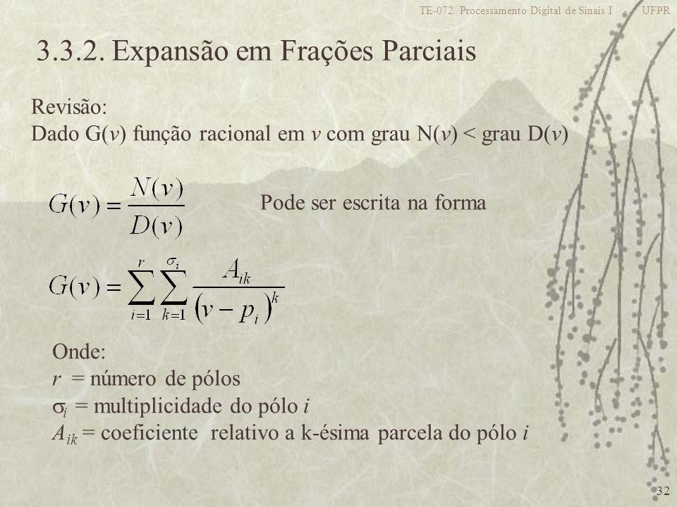 3.3.2. Expansão em Frações Parciais