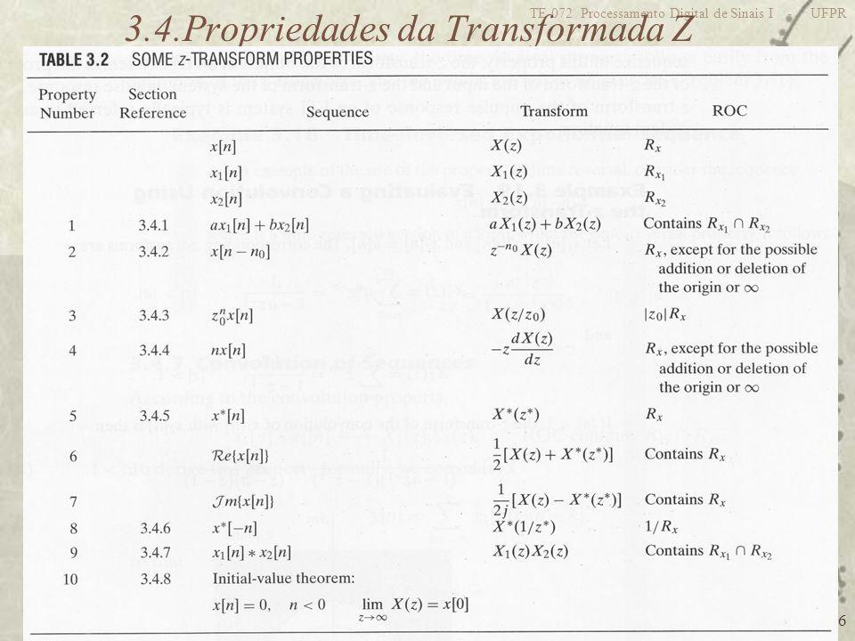 3.4.Propriedades da Transformada Z