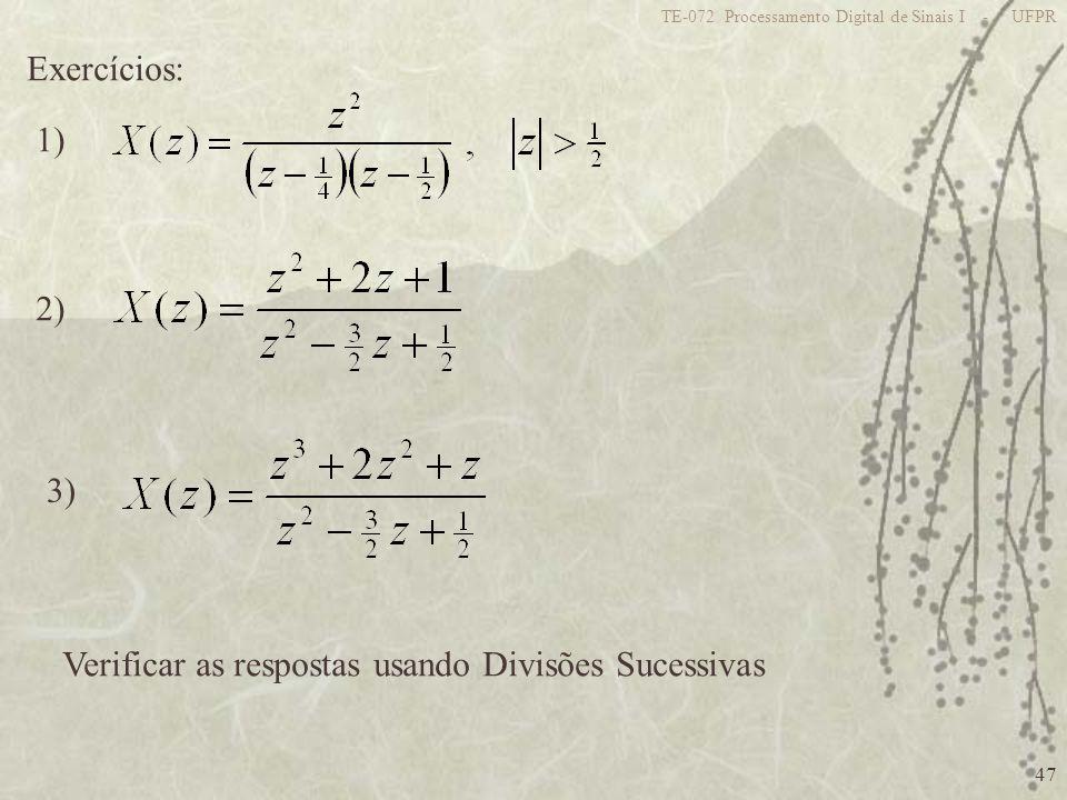 Verificar as respostas usando Divisões Sucessivas