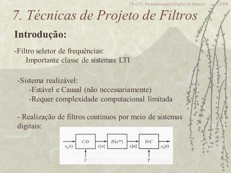 7. Técnicas de Projeto de Filtros