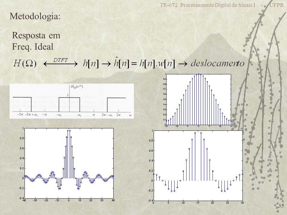 Metodologia: Resposta em Freq. Ideal