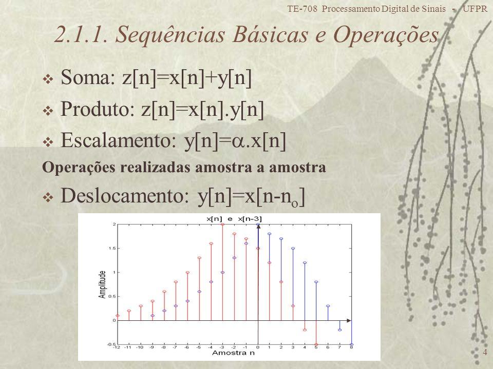 2.1.1. Sequências Básicas e Operações