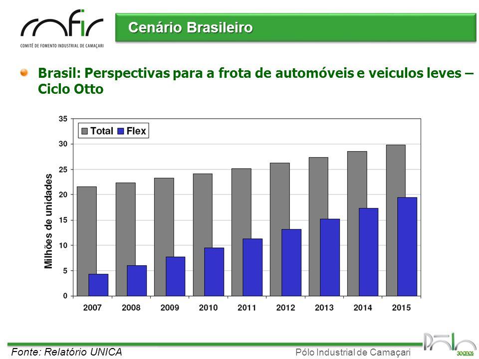 Cenário Brasileiro Brasil: Perspectivas para a frota de automóveis e veiculos leves – Ciclo Otto.