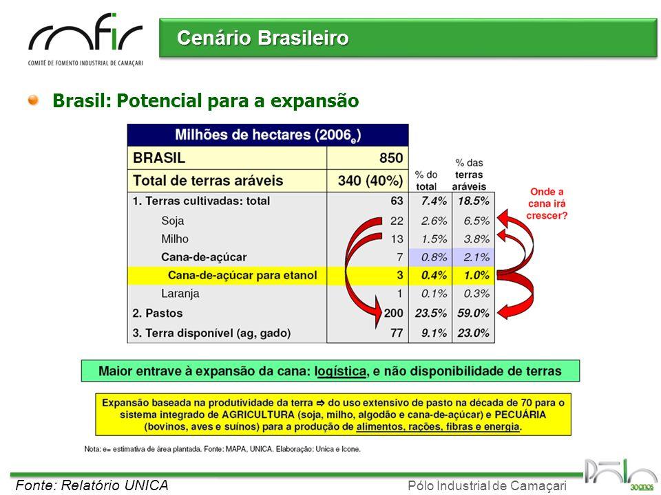 Cenário Brasileiro Brasil: Potencial para a expansão