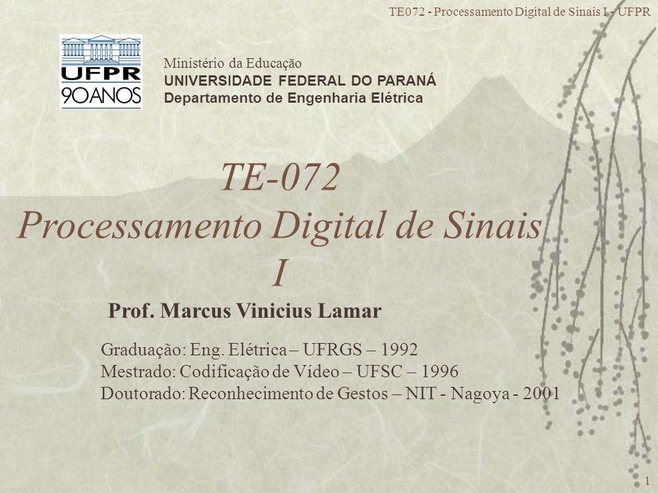 TE-072 Processamento Digital de Sinais I