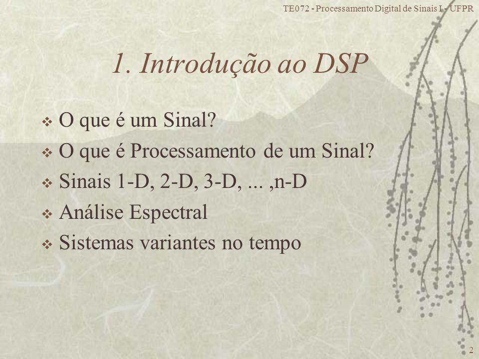 1. Introdução ao DSP O que é um Sinal