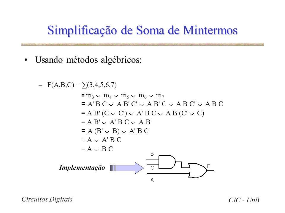 Simplificação de Soma de Mintermos