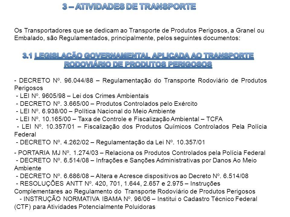 3 – ATIVIDADES DE TRANSPORTE