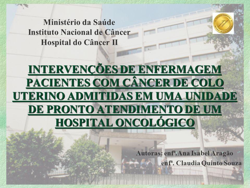 Ministério da Saúde Instituto Nacional de Câncer Hospital do Câncer II