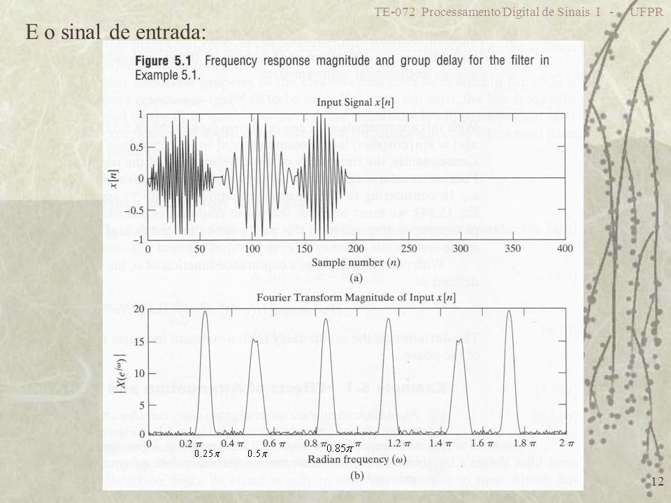 TE-072 Processamento Digital de Sinais I - UFPR