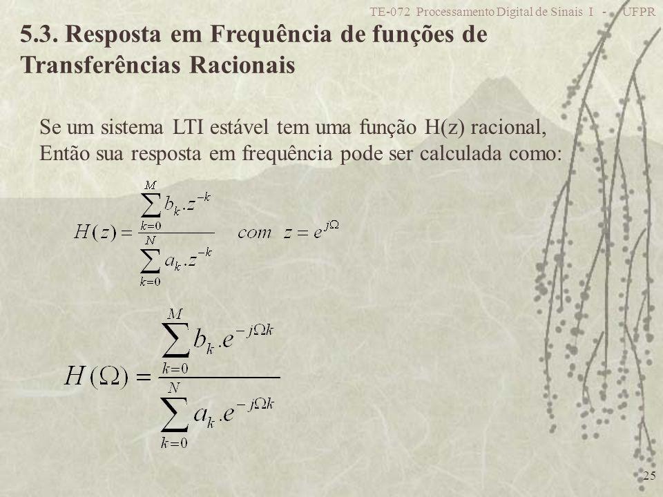 5.3. Resposta em Frequência de funções de Transferências Racionais