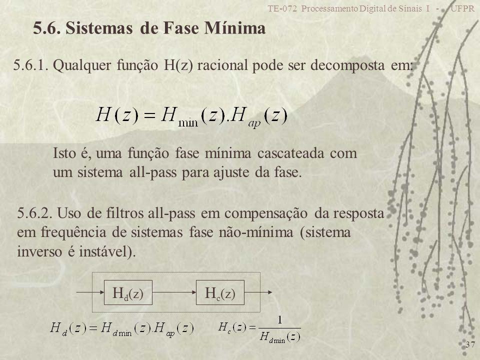 5.6. Sistemas de Fase Mínima